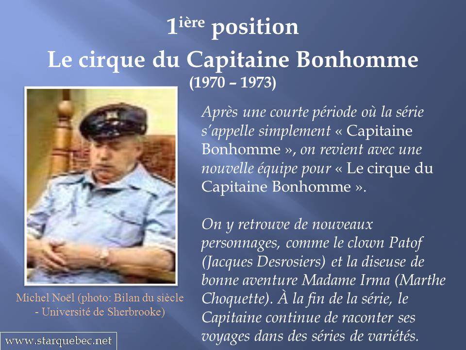 Le cirque du Capitaine Bonhomme (1970 – 1973) 1 ière position Après une courte période où la série sappelle simplement « Capitaine Bonhomme », on revient avec une nouvelle équipe pour « Le cirque du Capitaine Bonhomme ».
