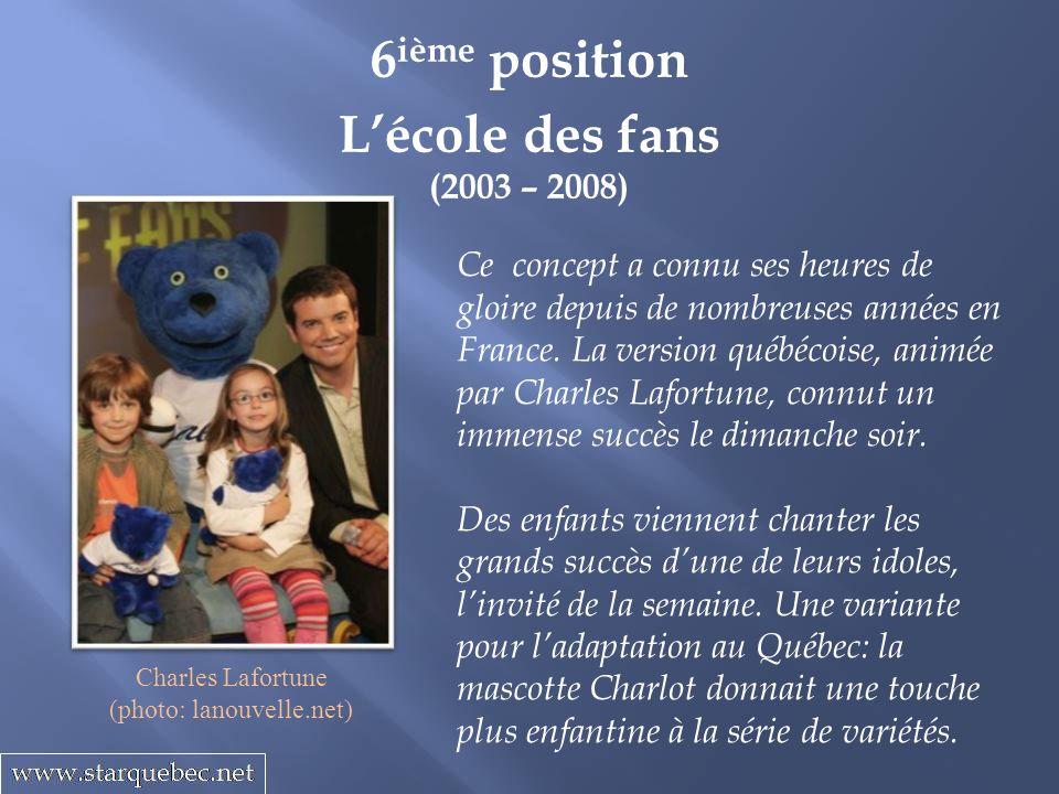 Lécole des fans (2003 – 2008) 6 ième position Ce concept a connu ses heures de gloire depuis de nombreuses années en France.