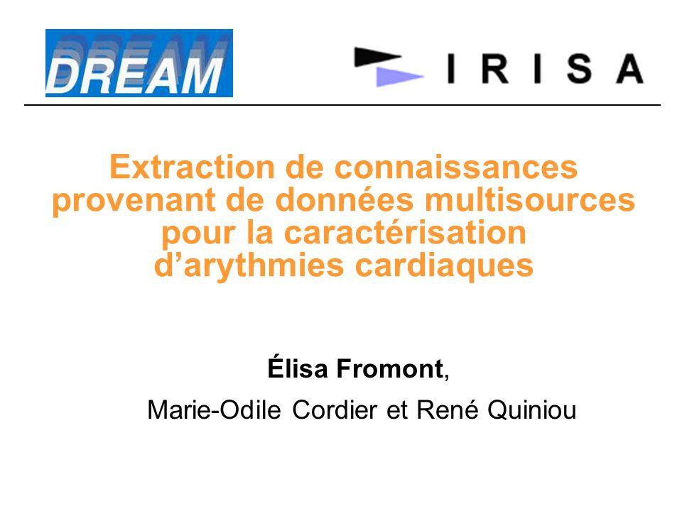 Extraction de connaissances provenant de données multisources pour la caractérisation darythmies cardiaques Élisa Fromont, Marie-Odile Cordier et René Quiniou