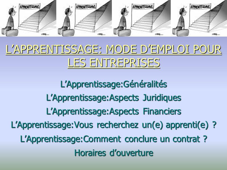 LApprentissage: Généralités I – LA DUREE Le contrat dapprentissage est un contrat à durée déterminée.
