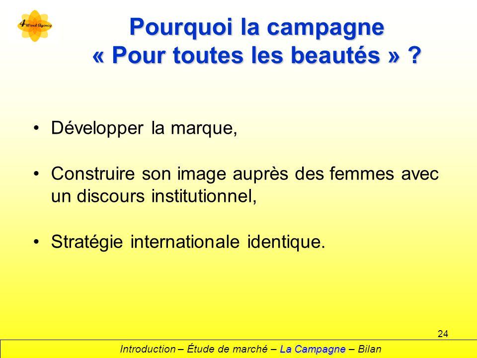 24 Pourquoi la campagne « Pour toutes les beautés » .