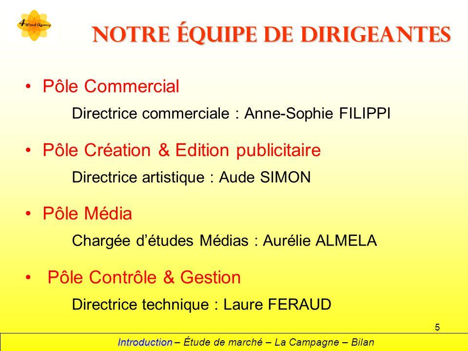 5 Notre équipe de dirigeantes Pôle Commercial Directrice commerciale : Anne-Sophie FILIPPI Pôle Création & Edition publicitaire Directrice artistique