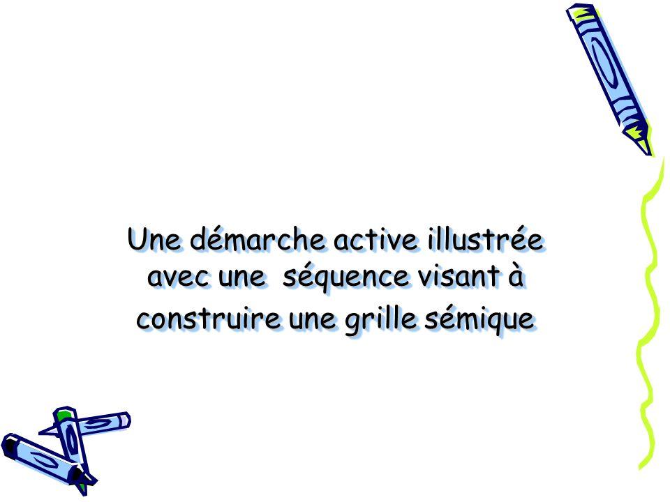 Une démarche active illustrée avec une séquence visant à construire une grille sémique