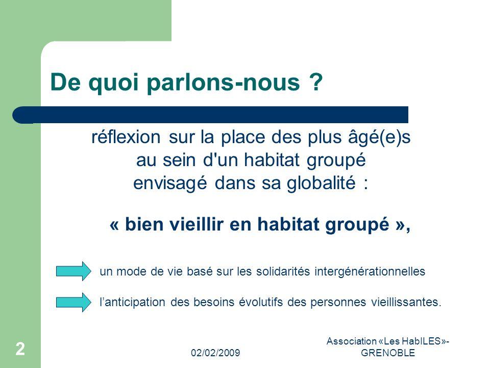02/02/2009 Association «Les HabILES»- GRENOBLE 2 De quoi parlons-nous .