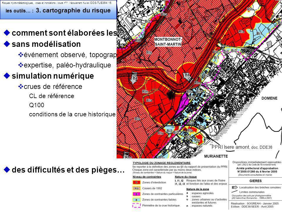 Philippe Belleudy - 03-2011 Risques Hydro-météorologiques, crues et inondations / cours n°7 : lécoulement fluvial /DDS-TUE364/ 15 les outils… : 3.