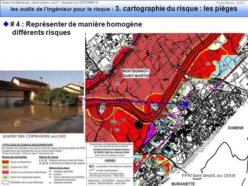 Philippe Belleudy - 03-2011 Risques Hydro-météorologiques, crues et inondations / cours n°7 : lécoulement fluvial /DDS-TUE364/ 19 les outils de lingénieur pour le risque : 3.