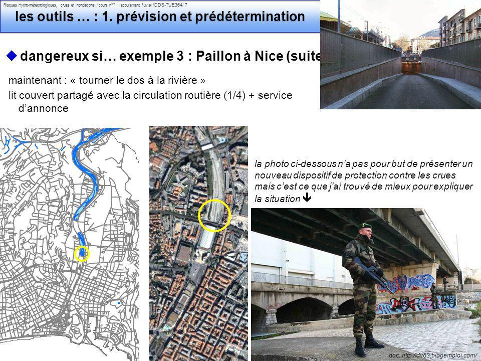 Philippe Belleudy - 03-2011 Risques Hydro-météorologiques, crues et inondations / cours n°7 : lécoulement fluvial /DDS-TUE364/ 18 les outils de lingénieur pour le risque : 3.