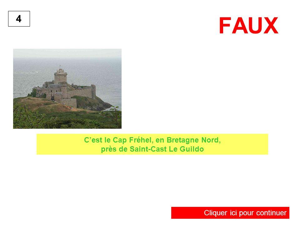FAUX 4 Cliquer ici pour continuer Cest le Cap Fréhel, en Bretagne Nord, près de Saint-Cast Le Guildo