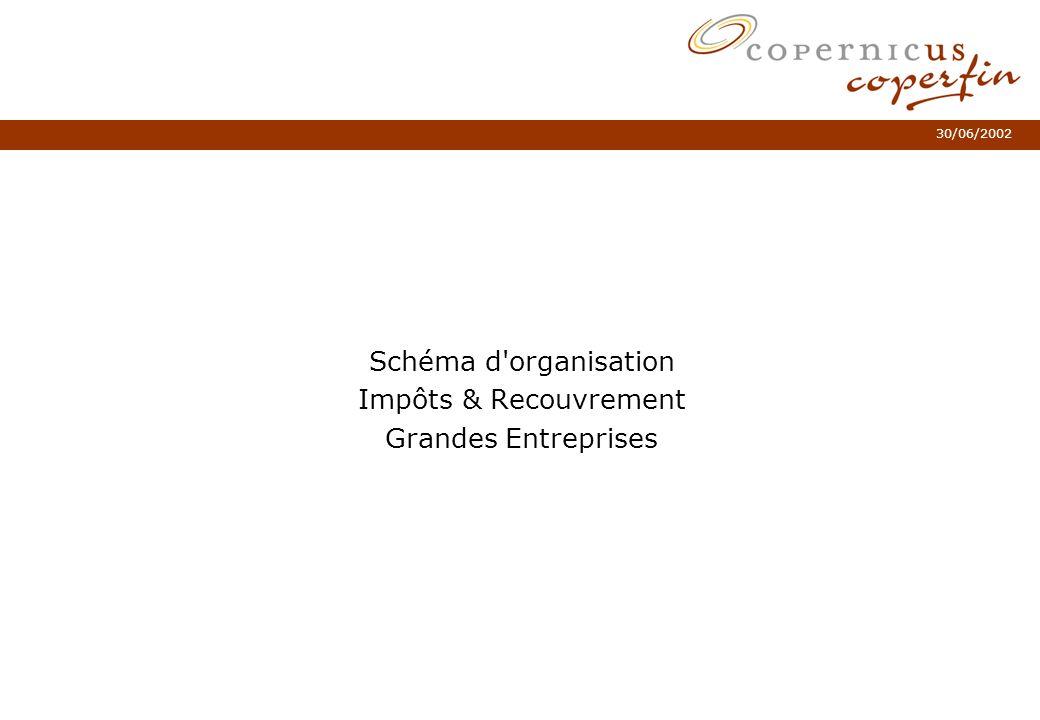 30/06/2002 Schéma d'organisation Impôts & Recouvrement Grandes Entreprises