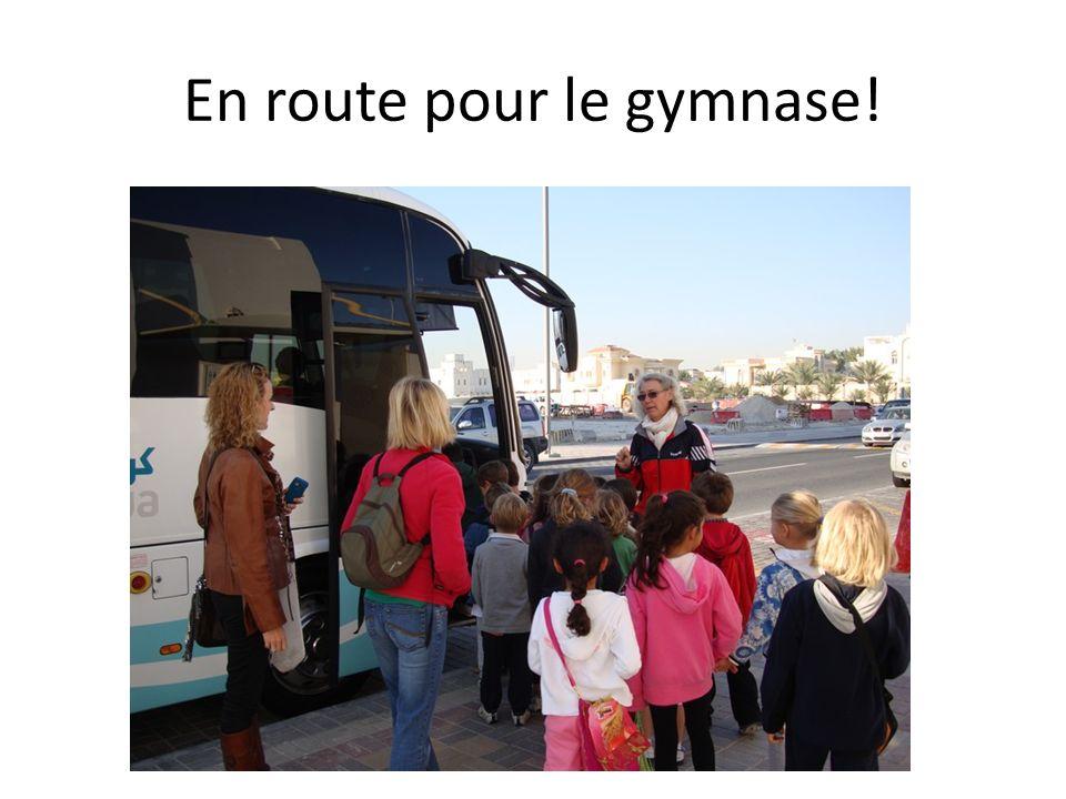 En route pour le gymnase!