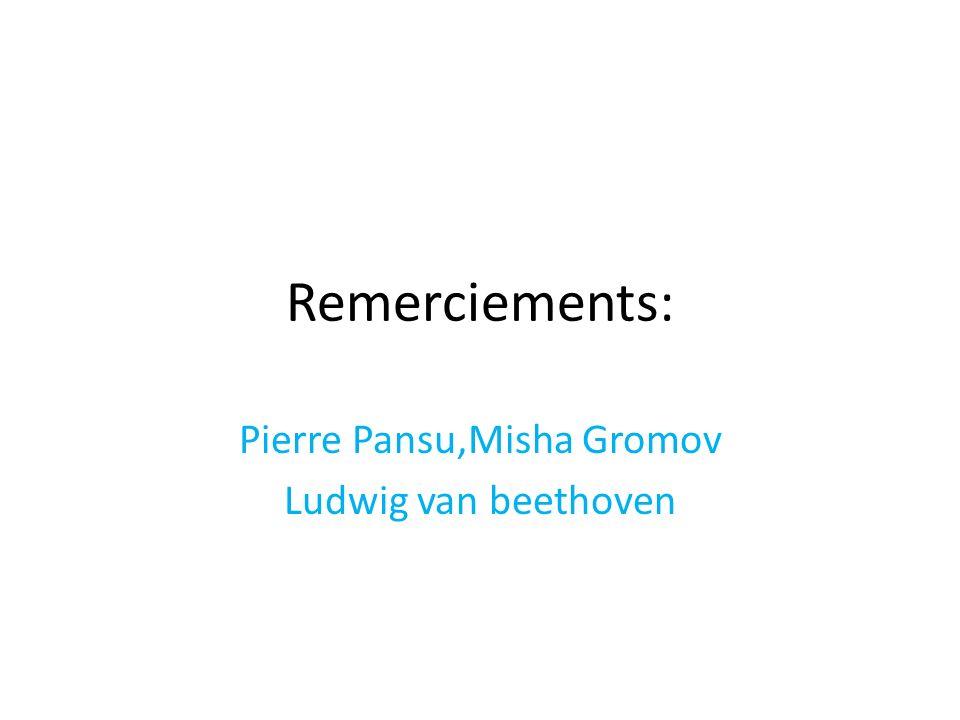 Remerciements: Pierre Pansu,Misha Gromov Ludwig van beethoven