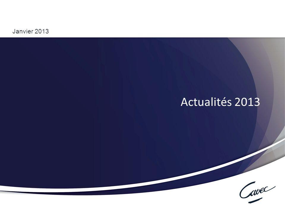 Réunion du 17 février 2011 Cumul emploi-retraite au régime complémentaire 1 Janvier 2013 Actualités 2013