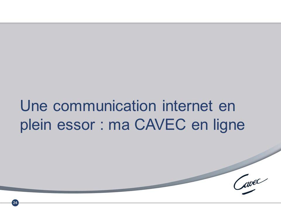 Réunion du 17 février 2011 Cumul emploi-retraite au régime complémentaire 24 Une communication internet en plein essor : ma CAVEC en ligne