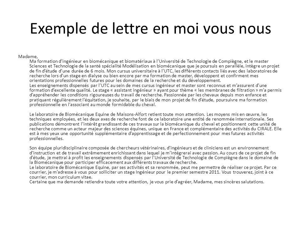 exemple lettre de motivation vous je nous Lettre De Motivation Vous Je Nous Exemple | passieophetplatteland exemple lettre de motivation vous je nous