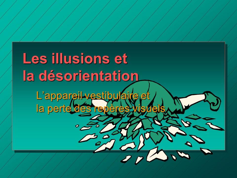 Les illusions et la désorientation Lappareil vestibulaire et la perte des repères visuels