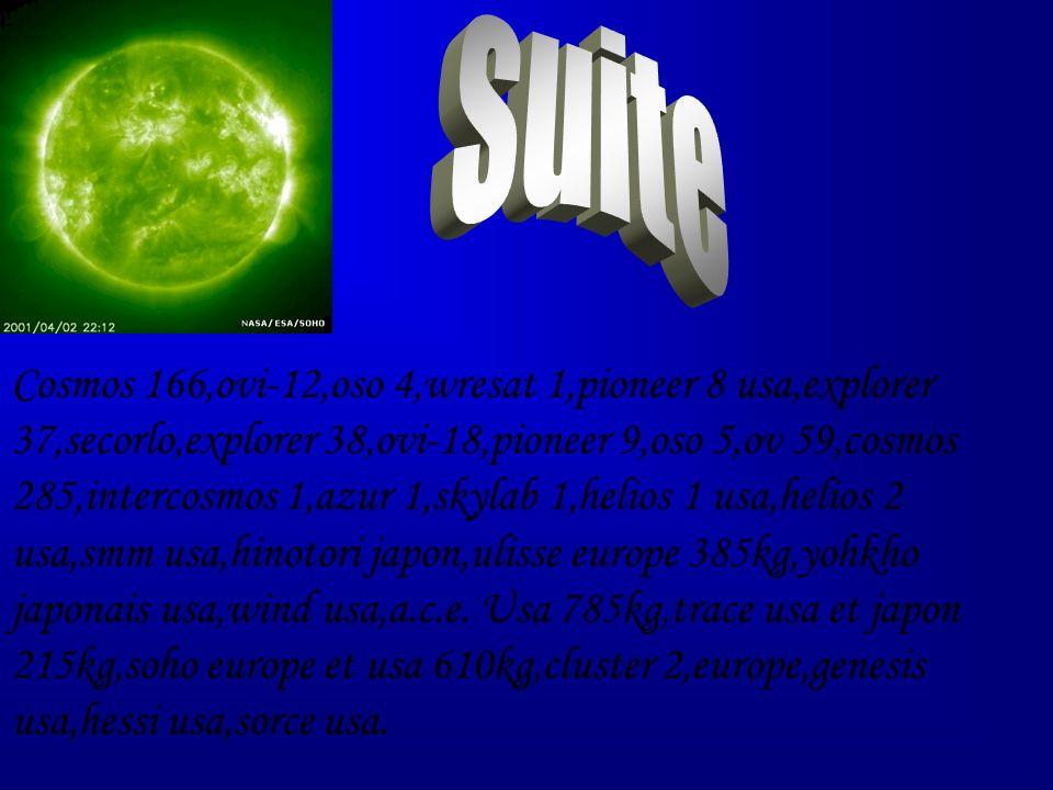 Cosmos 166,ovi-12,oso 4,wresat 1,pioneer 8 usa,explorer 37,secorlo,explorer 38,ovi-18,pioneer 9,oso 5,ov 59,cosmos 285,intercosmos 1,azur 1,skylab 1,h
