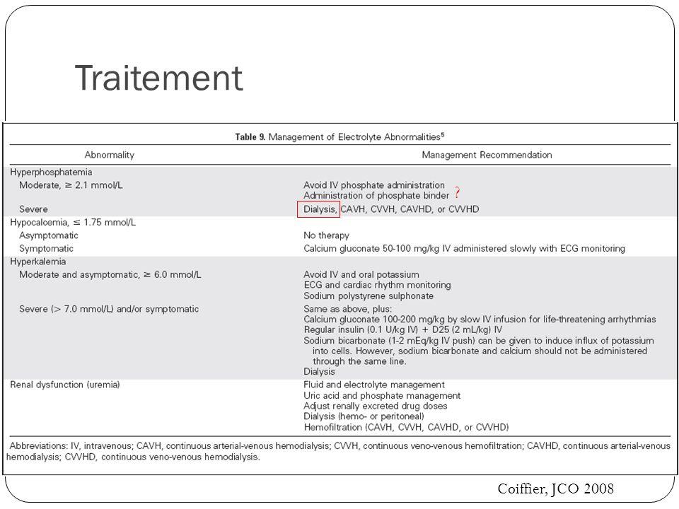 Traitement Coiffier, JCO 2008 ?