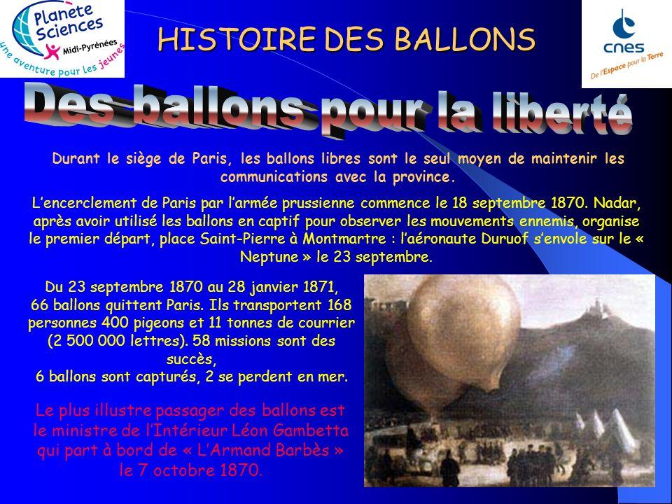 HISTOIRE DES BALLONS 26 Juin 1794 : bataille de Fleurus, surveillance26 Juin 1794 : bataille de Fleurus, surveillance des mouvements de lennemi grâce