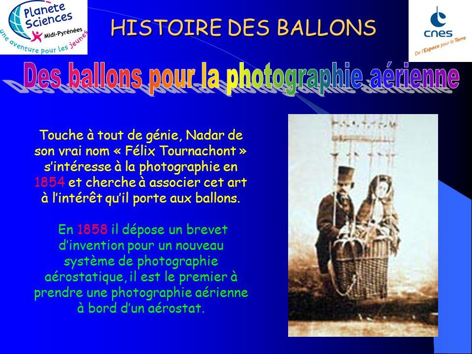 HISTOIRE DES BALLONS Durant le siège de Paris, les ballons libres sont le seul moyen de maintenir les communications avec la province. Le plus illustr