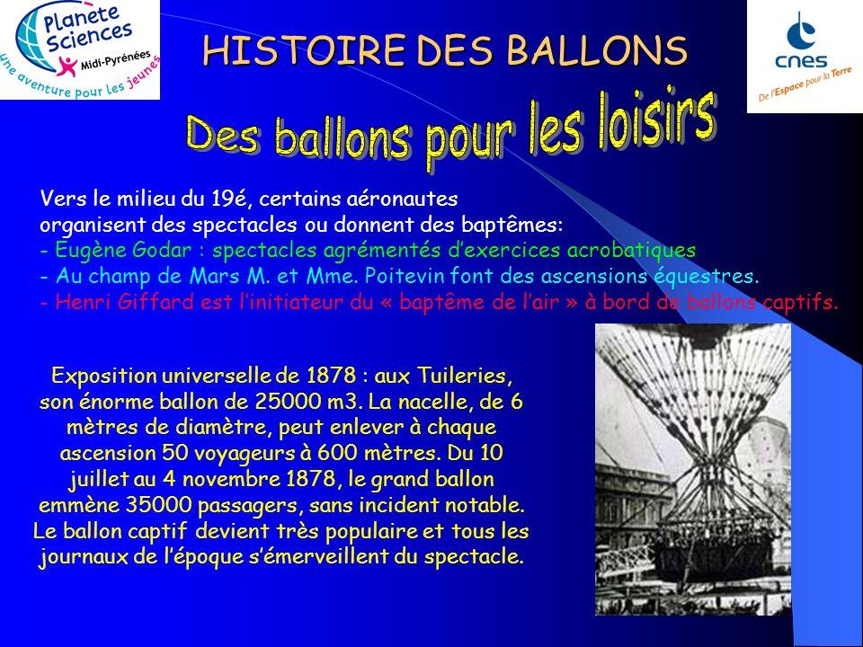 HISTOIRE DES BALLONS Touche à tout de génie, Nadar de son vrai nom « Félix Tournachont » sintéresse à la photographie en 1854 et cherche à associer ce