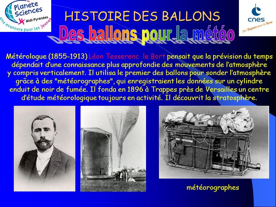 HISTOIRE DES BALLONS Vers le milieu du 19é, certains aéronautes organisent des spectacles ou donnent des baptêmes: - Eugène Godar : spectacles agrémen
