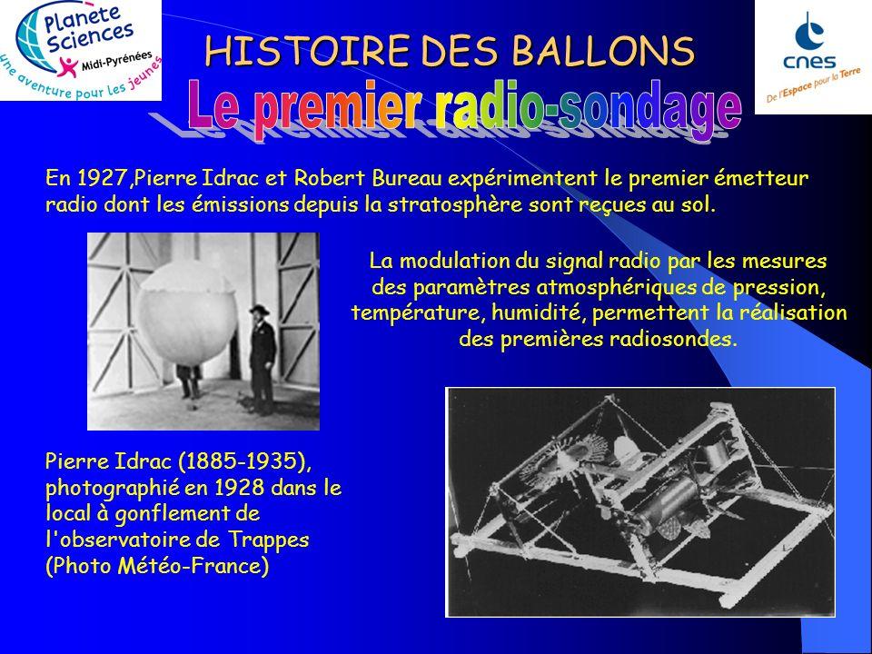 HISTOIRE DES BALLONS Métérologue (1855-1913) Léon Tesserenc le Bort pensait que la prévision du temps dépendait dune connaissance plus approfondie des