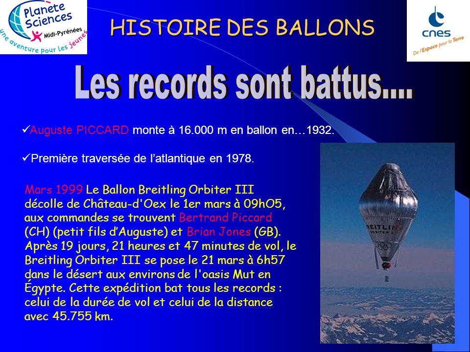 HISTOIRE DES BALLONS Le plaisir de voler ; le renouveau de la montgolfière date des années 70. Lune des principales raisons : son coût, beaucoup moins