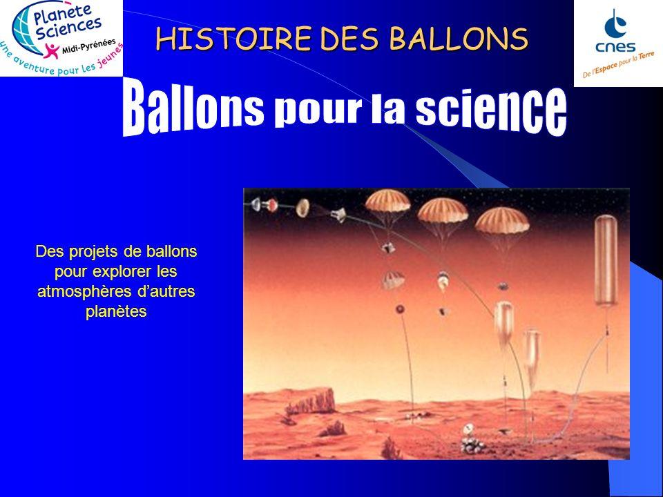 HISTOIRE DES BALLONS Position des ballons de la campagne « VORCOR » en antarctique au 19 octobre 2005. Ces ballons sont lancés de la base américaine d
