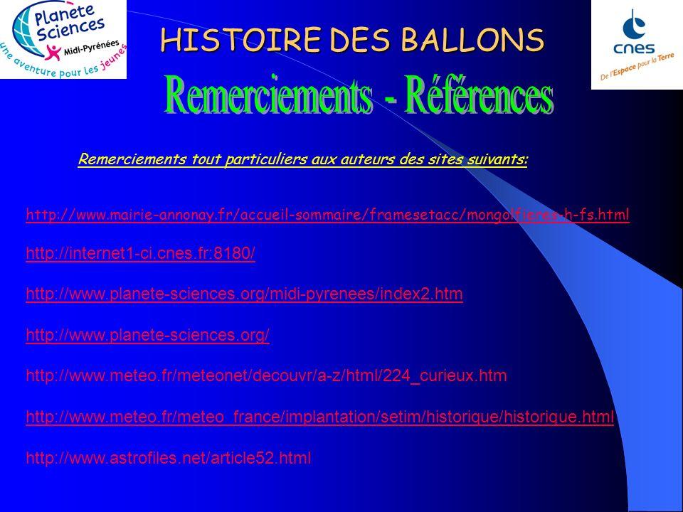 HISTOIRE DES BALLONS Photo de Jérémy – Planète-Sciences Midi Pyrénées.