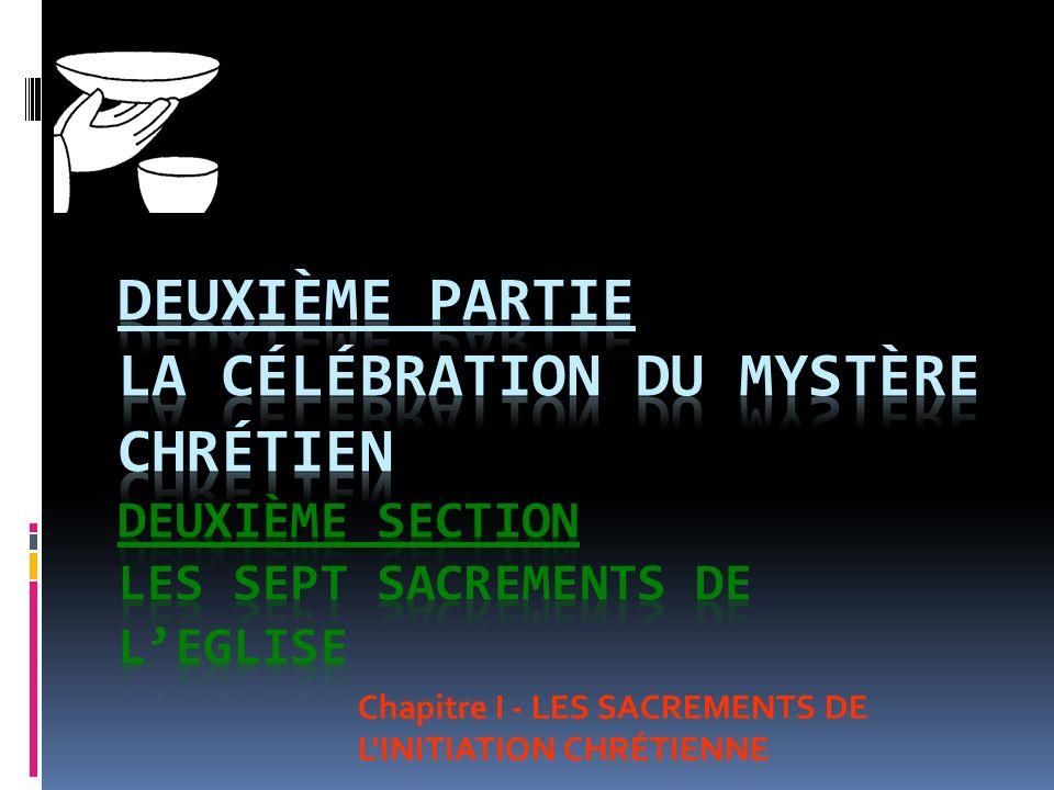 Chapitre I - LES SACREMENTS DE L INITIATION CHRÉTIENNE