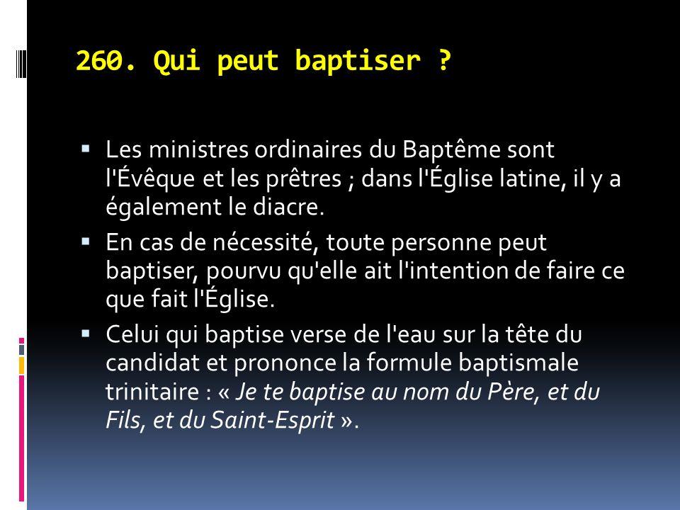 260.Qui peut baptiser .