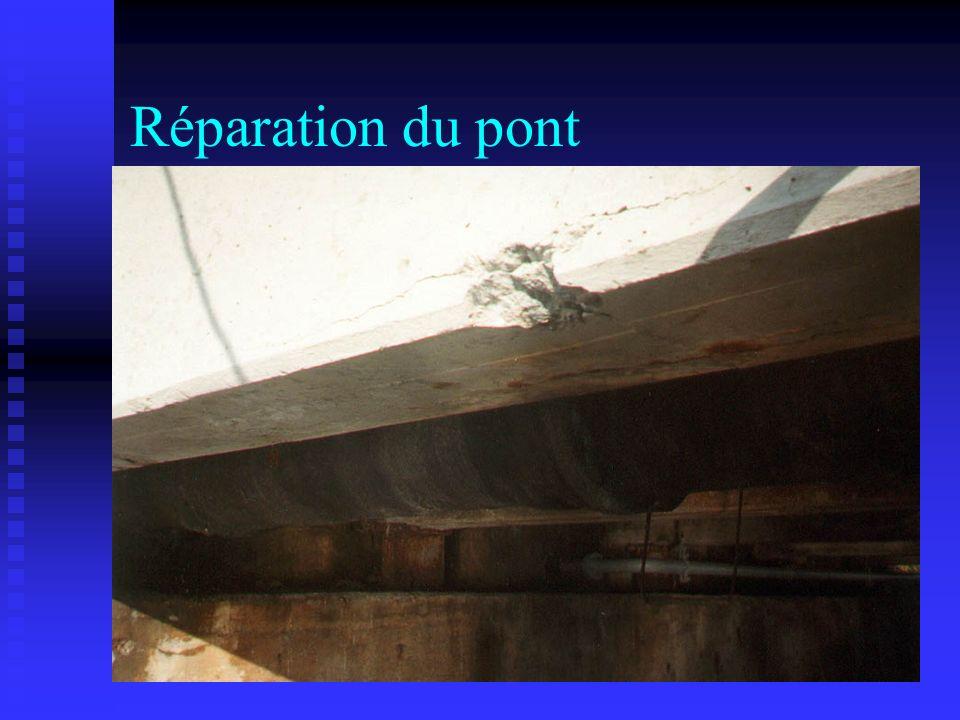 Réparation du pont