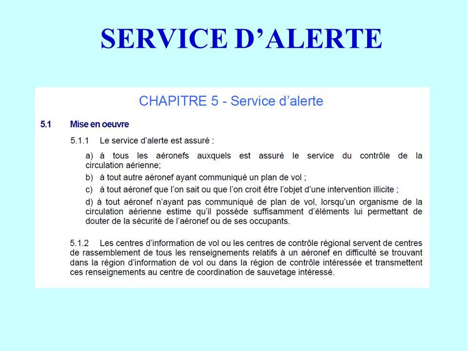 SERVICE DALERTE