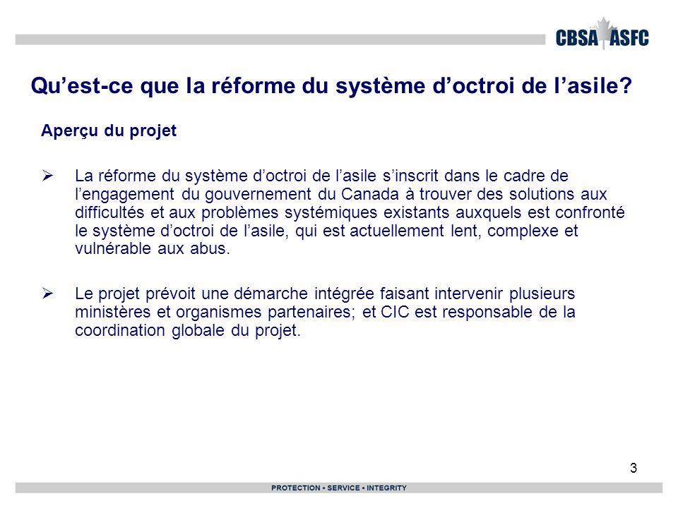 4 Étendue du projet dans son ensemble Stratégies de réduction des arriérés à la CISR, à CIC et à lASFC CISR – réduction des inventaires des cas comportant des considérations humanitaires et des examens des risques avant renvoi.