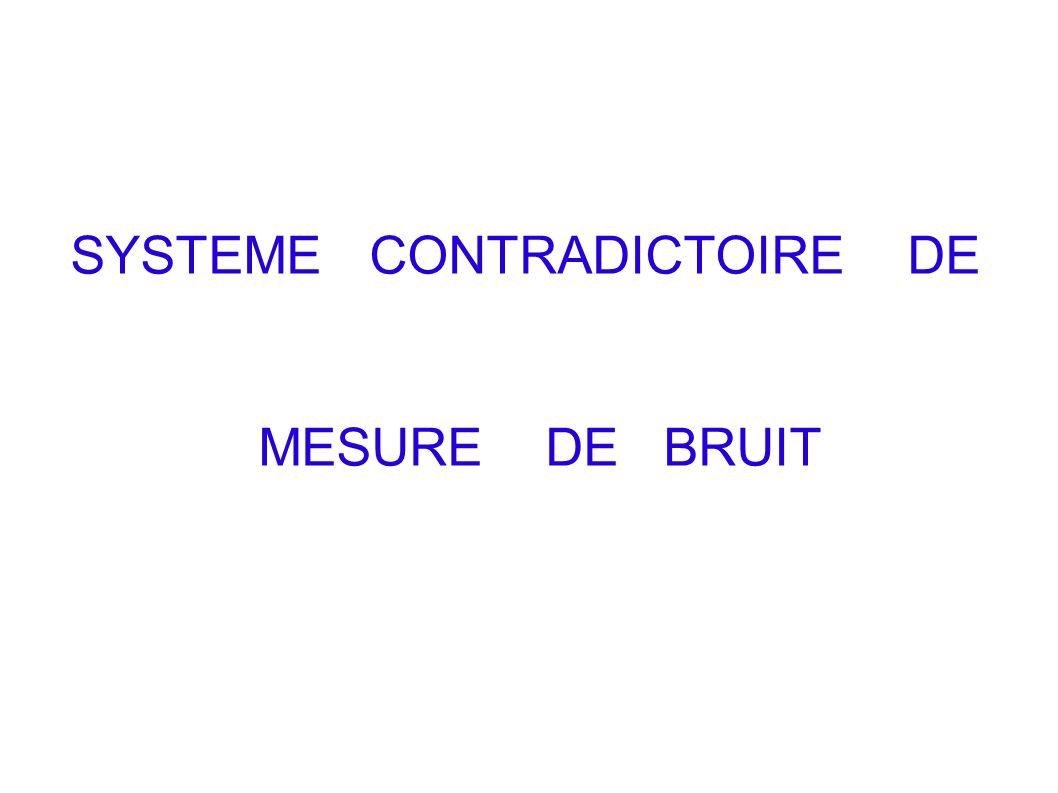 SYSTEME CONTRADICTOIRE DE MESURE DE BRUIT