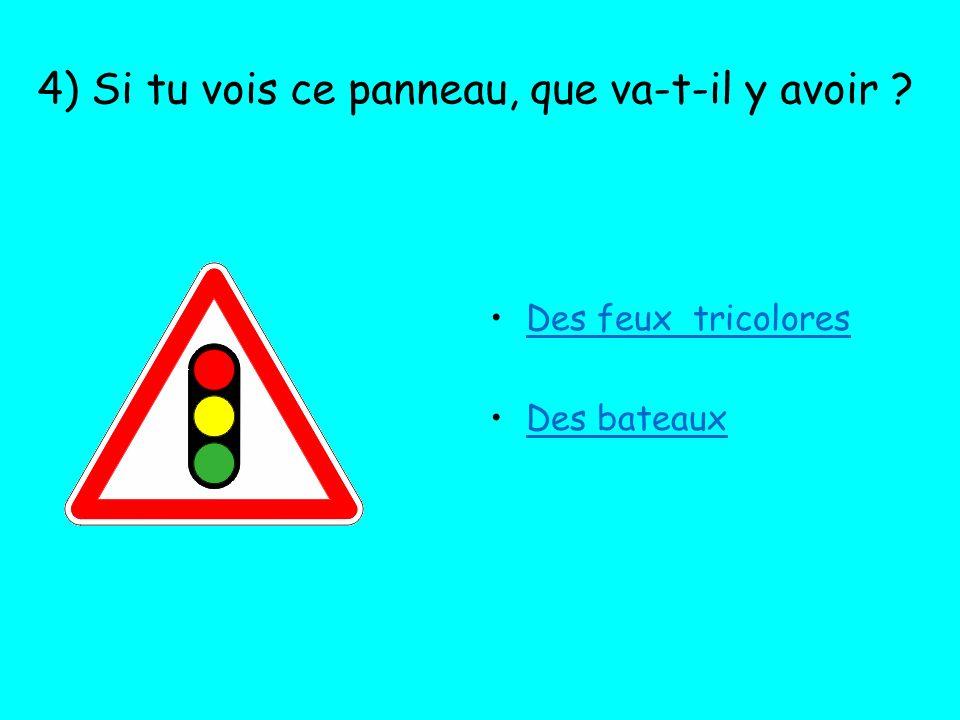 5) Lorsque tu vois ce panneau : Un passage pour piétons est à proximité.