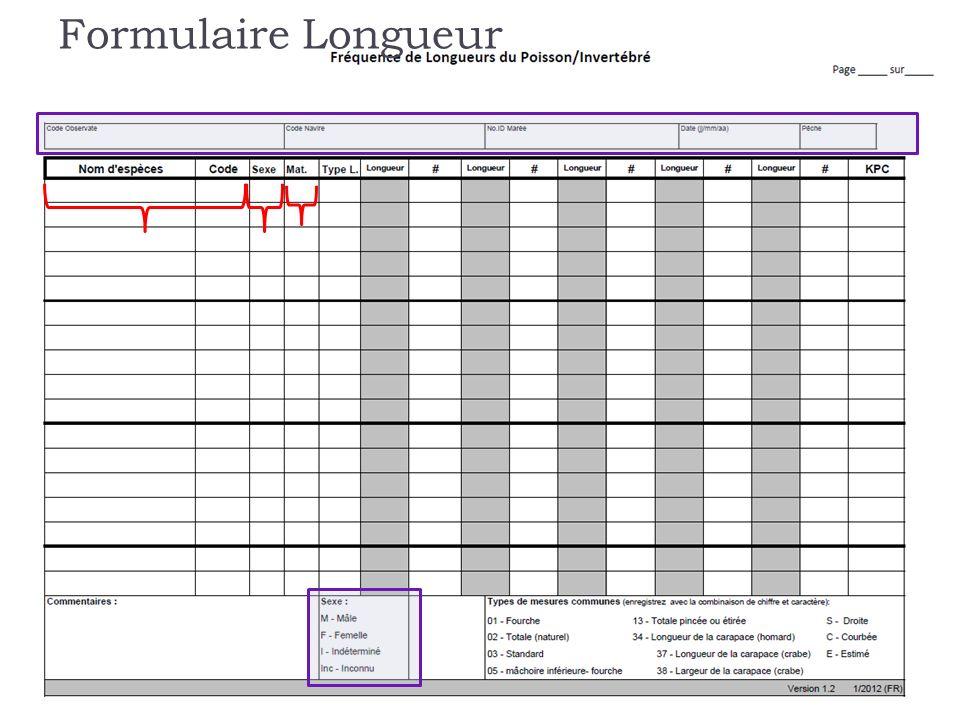 Formulaire Longueur