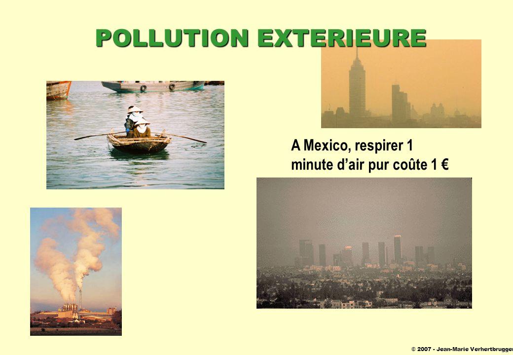 © 2007 - Jean-Marie Verhertbruggen POLLUTION EXTERIEURE A Mexico, respirer 1 minute dair pur coûte 1