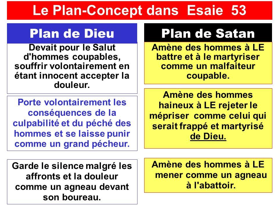 SFR749 www.hopeandmore.at Plan de DieuPlan de Satan Amène des hommes haineux à LE rejeter le mépriser comme celui qui serait frappé et martyrisé de Dieu.