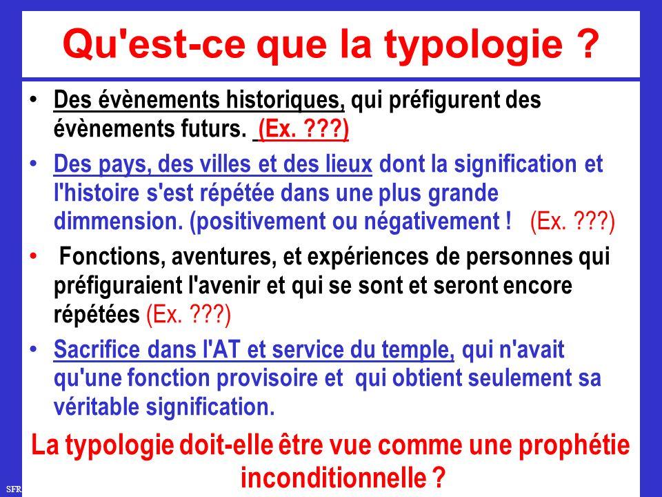 SFR749 www.hopeandmore.at Qu est-ce que la typologie .