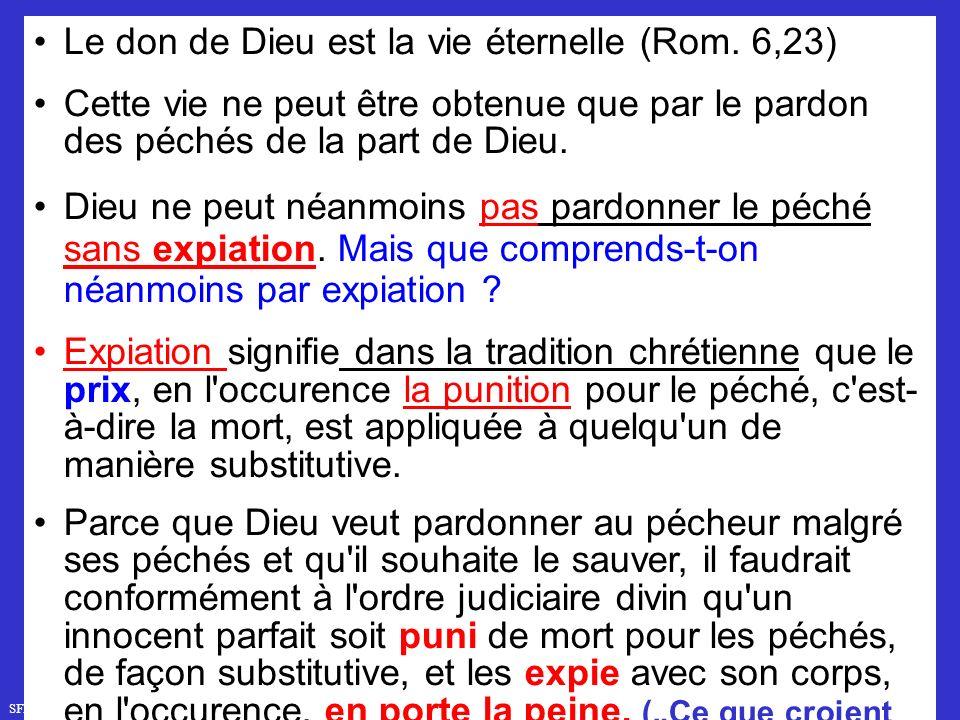 SFR749 www.hopeandmore.at Le don de Dieu est la vie éternelle (Rom.