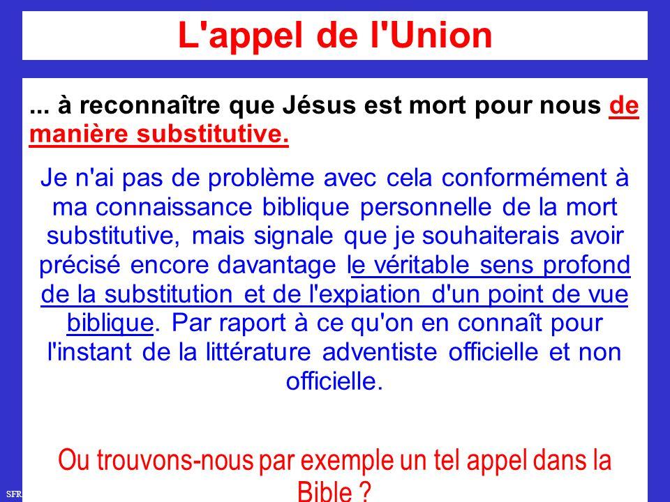 SFR749 www.hopeandmore.at...à reconnaître que Jésus est mort pour nous de manière substitutive.
