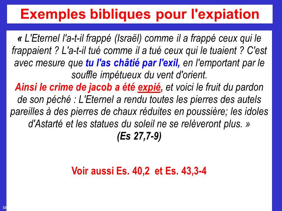 SFR749 www.hopeandmore.at « L Eternel l a-t-il frappé (Israël) comme il a frappé ceux qui le frappaient .
