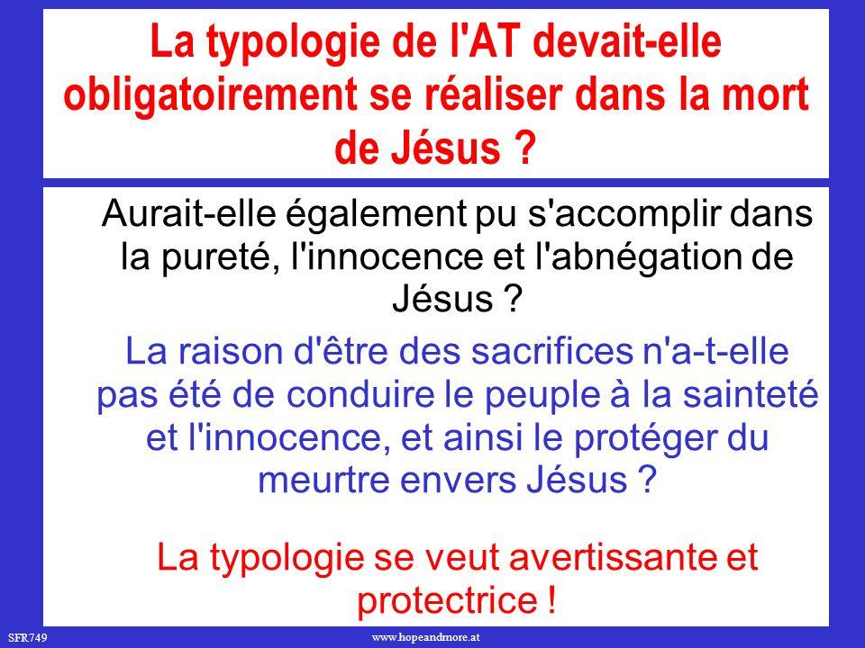 SFR749 www.hopeandmore.at Plan de Dieu ou plan de Satan