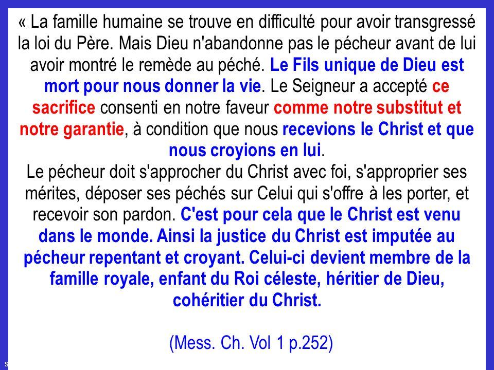 SFR749 www.hopeandmore.at « La famille humaine se trouve en difficulté pour avoir transgressé la loi du Père.