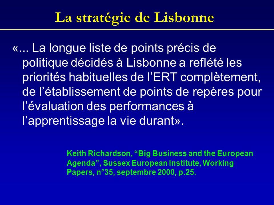 La stratégie de Lisbonne «...