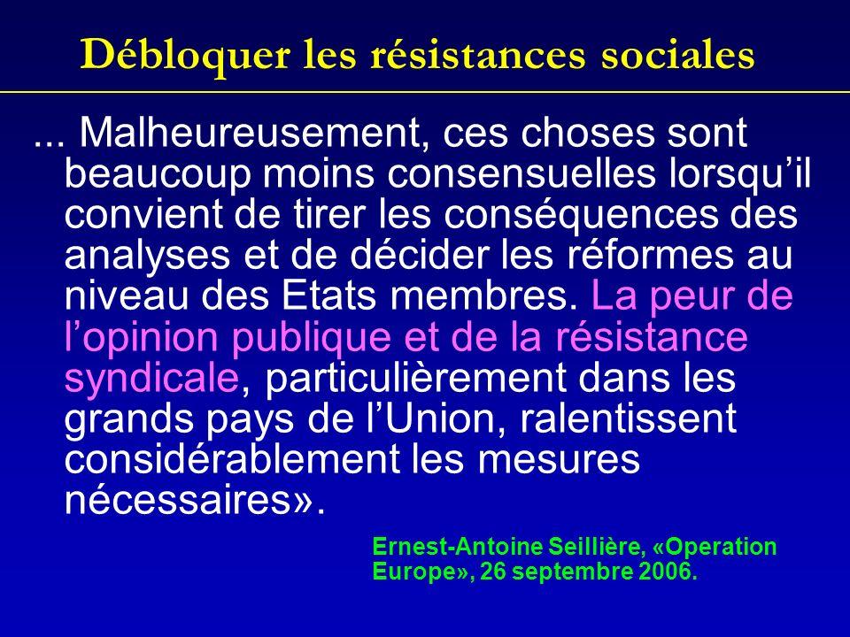 Débloquer les résistances sociales...