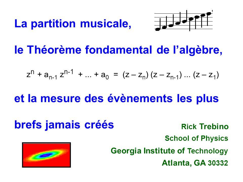 Impulsion à distorsion négative Impulsion à distorsion positive Impulsion sans distorsion Comme une partition musicale, le spectrogramme représente graphiquement les fréquences en fonction du temps Fréquence Temps Retard Spectrogrammme dune impulsion à distortion de fréquence linéaire
