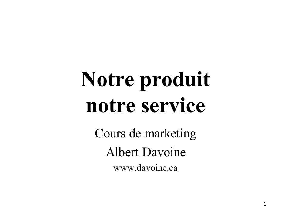 2 Le «produit total» Un ensemble de matières et de services et de données symboliques ou dattributs, permettant dapporter des satisfactions et des avantages à lacheteur.