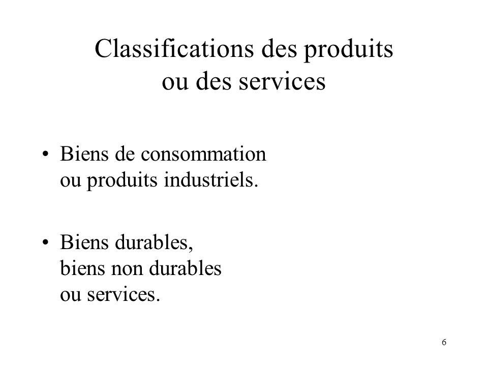 7 Trois catégories de produits Marchandises courantes (convenience goods), achetées fréquemment sans hésiter.